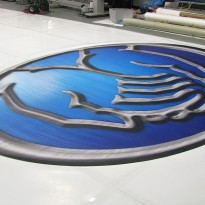 Branded Flooring Shows Off Die-Cut Logo