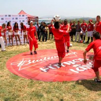 Circular Outdoor Flooring Stands Up to Play: Budweiser
