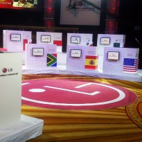 Trade Show Custom Shaped Carpet Stands Out:  LG Electronics