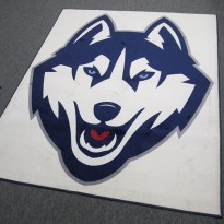 Inlay Carpeting Powerfully Presents University Symbol:  UConn Huskies