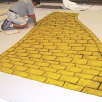 Printed Event Carpet Takes on Shape of Yellow Brick Road: Furla